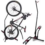 Dinsam Top Vertical Bike Rack Floor Stand, Indoor Bicycle Storage Mount, Bike Floor Stand - Fits Nearly All Standard Bikes & Frees 4 Feet of Floor Space … (FIT 20-27 Inch Bikes)