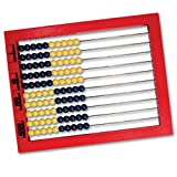 Learning Resources 2-Color Desktop Abacus, Red Frame, Color Coded, Ages 5+