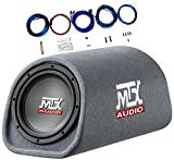 MTX RT8PT 8' 240 Watt Amplified Loaded Subwoofer Tube Audio Set w 8 Ga. Amp Wiring Kit