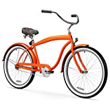 sixthreezero Men's In The Barrel Single Speed Beach Cruiser Bicycle, Glossy Orange w/ Fenders, 26' Wheels/ 18' Frame