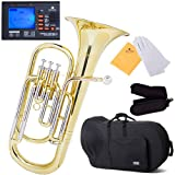 Mendini MBR-30 Intermediate Brass B Flat Baritone with Stainless Steel Pistons