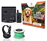 Wireless Combo Electric Dog Fence System with Remote Dog Training Collar by PetControlHQ, Safe Dog Containment, Waterproof, Rechargeable Dog Shock Collar & Invisible Dog Fence (1 Collar w Remote)