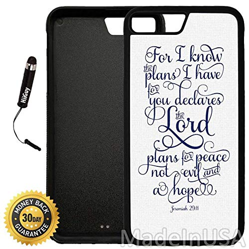 Custom iPhone 7 Plus Case (for I Know The Plans I Have for You Quote) Edge-to-Edge Rubber Black Cover Ultra Slim | Lightweight | Includes Stylus Pen by Innosub