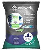 """Vacwel vacJ6 Jumbo Vacuum Storage Bags for Clothes, Quilts, Pillows, Space Saver Size 43x30"""" Extra Strong (Pack of 6), 6, Transparent"""