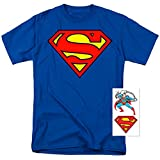 Superman Classic Shield Logo T Shirt & Stickers