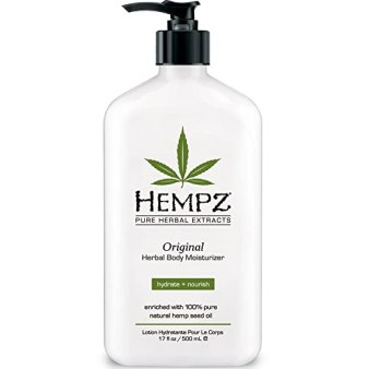Original, Natural Hemp Seed Oil Body Moisturizer with Shea Butter and Ginseng, 17 Fluid Ounce - Pure Herbal Skin Lotion for Dryness - Nourishing Vegan Body Cream in Floral and Banana