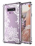 Case for Galaxy Note 9,Cutebe Shockproof Series Hard PC+ TPU Bumper Protective Case for Samsung Galaxy Note 9 Crystal