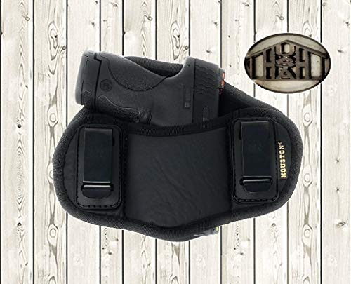 IWB Dual Clip Eco Leather Pancake Holster Fits GLOCKS 26, 27, 30, 30S, 33, More!