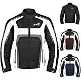 Textile Motorcycle Jacket Motorbike Jacket Breathable CE ARMORED WATERPROOF (XXX-Large, Grey)