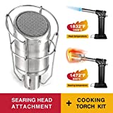 MR.TORCH Butane Gas Cooking/Searing Grill Torch Sous Vide Kit/w Sear Head Attachment, Searzall Equivalent + Refillable Professional Chef Blowtorch,for Steak Grilling,Barbecue,Culinary Heating Melting