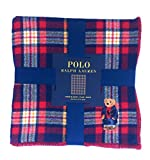 Ralph Lauren Polo Bear Limited Collectors Edition Tartan Plaid Throw Blanket