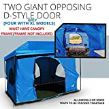 The Original-Authentic Standing Room Family Cabin Tent 8.5 FEET OF HEAD ROOM 2 or 4 Big Screen Doors Fast Easy SetUp,fits most 10x10 STRAIGHT leg canopy,FULL TUB STYLE Floor CANOPY FRAME NOT INCLUDED!
