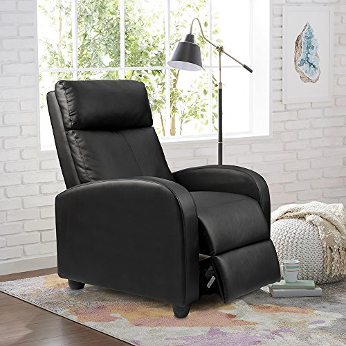 Homall Single Recliner Chair Padded Seat PU...