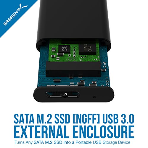 Sabrent M.2 SSD [NGFF] to USB 3.0 Aluminum Enclosure (EC-M2MC) 7