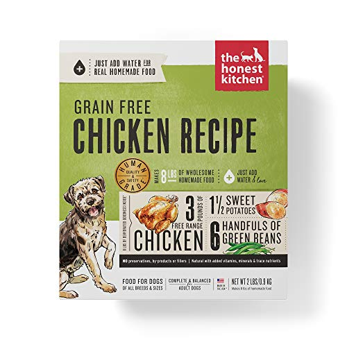 Honest Kitchen Human Grade Dehydrated Grain Free Chicken Dog Food 2 lb - Force