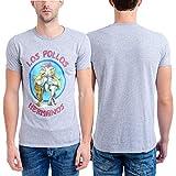 Breaking Bad Men's Los Pollos Hermanos T-Shirt, Heather Gray, Small