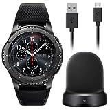Samsung - Gear S3 Frontier Smartwatch 46mm - AT&T 4G LTE Dark Grey SM-R765A (Certified Refurbished) (Large)