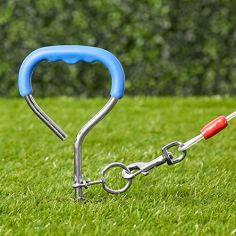Petmate-Easyturn-Stake-with-Cable-Corkscrew-Dog-Tie-Out-Domed-Handle-Holds-up-to-100-Pounds
