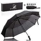 Umbrella Windproof Travel Compact Umbrellas for Women | Large and Bonus Mini | Katzendaugs