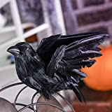 Factory Direct Craft Artificial Black Feather Flying Crow with Attached Clip for Halloween Decorating, Crafting and Nature Displays