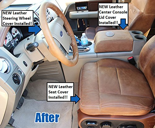 Com 2007 Ford F 150 King Ranch Driver Side Bottom Replacement Leather Seat Cover Automotive