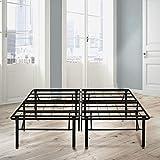 Boyd Sleep Raised Platform Bed Frame Base/Metal Mattress Foundation: 18' Height, Black, King