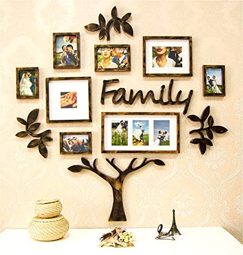 Picture Frame Set of Tree Shape on Wall Art Decoration Sticker in Family Living Room and Bedroom (Tree)