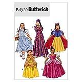 Berwick B4320 Girl's Princess Dress Halloween Costume Sewing Patterns, Sizes 7-14