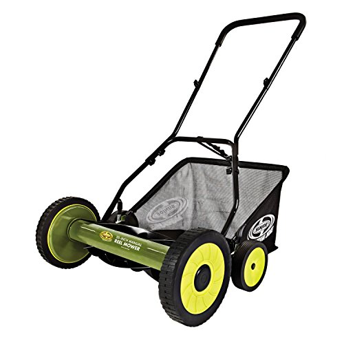 Sun Joe MJ502M Manual Reel Mower w/Grass Catcher   20 inch