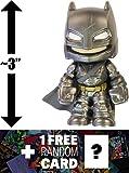 "Armored Batman: ~3"" Batman v Superman 'Dawn of Justice' x Funko Mystery Minis Vinyl Figure Series + 1 FREE Official DC Trading Card Bundle [87388]"