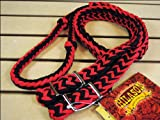 Product review for Red Black Braided Poly Barrel Racing Contest Reins Flat W/easy Grip Knots 1 Inch X 8ft