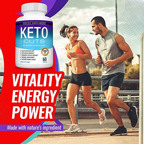 Keto Cuts Diet Pills Ketosis Supplement - Natural Exogenous Keto Formula Support Energy & Focus, Manage Cravings Using Ketogenic Diet, Keto Diet Pills, Men Women, 60 Capsules, Toplux Supplement 4
