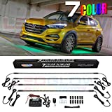 LEDGlow 4pc Multi-Color Slimline LED Underbody Underglow Car Light Kit - Water Resistant - Wide Angle SMD LEDs