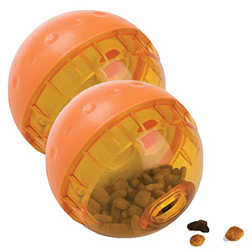 OurPets IQ Treat Ball Interactive Food Dispensing Dog Toy, 4 Inches (2 Pack)(colors may vary) 1