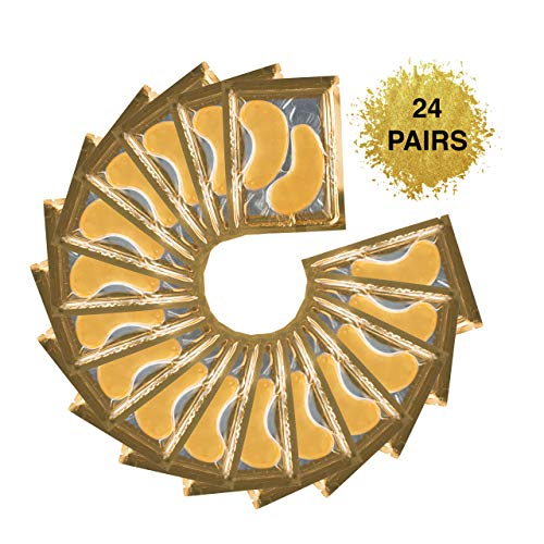 (24 PAIRS) Rejuvenating Under Eye Mask for Puffy Eyes - Dark Circles Under Eye Bags Treatment - 24k Gold Anti-Aging Under Eye Patches - Under Eye Pads w/Hydrating Gel - Wrinkle Care for Women and Men 4