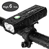 IPSXP Bicycle Headlight, USB Rechargeable 1000 Lumen LED Bike Front Light High Bright 6 Hours Mountain Road Cycling Safety Commuter Flashlight with 3 Modes, IPX5 Waterproof Bike Light