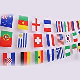 IsPerfect 42 Feet 8.2'' x 5.5'' International String Flags Banners,50 Countries Flags World Flags Pennant Banner for Olympics,Bar,Sports Clubs,Festival,Party Events Decorations