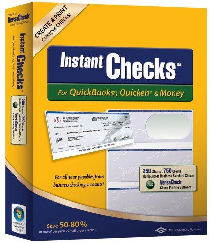 Instant Checks for QuickBooks, Quicken & Money: Form #3000 Business Standard - Green Graduated 250pk