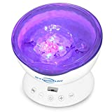 SyndeRay Ocean Wave Projector and Music Player,LED Remote Control Undersea Projector Lamp with 7 Colors Mode