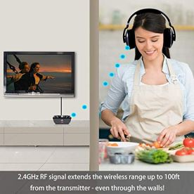 Wireless-Headphones-for-TV-with-Optical-MONODEAL-Digital-Stereo-Over-Ear-Headsets-with-Charging-Dock-24GHz-Rf-Transmitter-20H-Playtime-for-TV-Pc-Mobile
