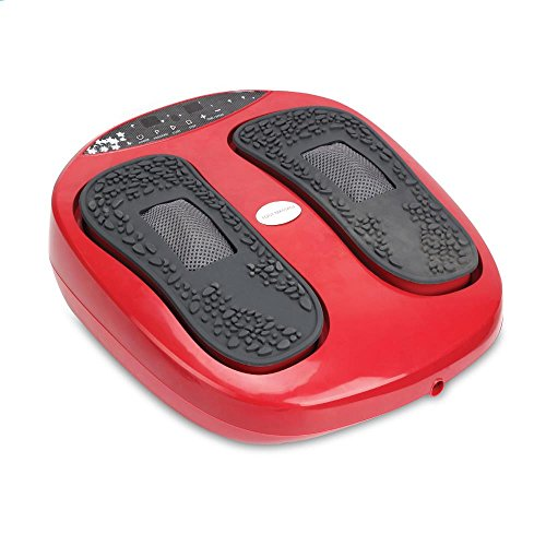 Hurtle Shiatsu Foot Massager Machine - Chinese Reflexology, Sitting Remote Control Option, Simple Cleaning Pads, 2 Functions Massage and Beating   Auto-Programs Adjustable Time & Settings - SLFTMSG20