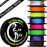 ULTRA-SPIN Pro Diabolo String 10m Reel (Choice of Colors) Performance, High Speed Diablo String for all Diabolos. (Orange)