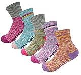 SEOULSTORY7 5Pack Women's Mid Cushion Low Cut Hiking/Camping/Performance Socks Block2P/MultiColor3P Medium