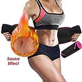 NANW Waist Trimmer Belt for Women Men - Waist Trainer with Phone Pouch, Adjustable Exercise Band Sweating Fitness Belt Accelerate Weight Loss & Fat Burning & Sauna Effect Neoprene Body Shaper Belt