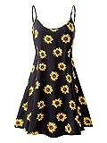 MSBASIC Women\s Sleeveless Adjustable Strappy Summer Swing Dress (Medium, MS6216-8)