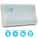 Save&Soft Gel Memory Foam Pillow - Reversible Orthopedic Sleeping Pillow Neck Pain - Cervical Chiropractic Cooling Pillow for Men Women