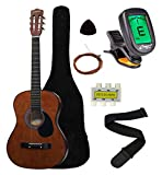 Crescent MG38-CF 38' Acoustic Guitar Starter Package, COFFEE (Includes CrescentTM Digital E-Tuner)