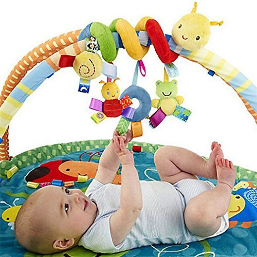 Baby Hanging Toys Stroller Cot Bed Activity Spiral Stroller and Travel Activity Toy