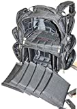 Explorer Backpack Range Bag with Large Padded Deluxe Tactical Divider and 9 Clip Mag Holder - Rangemaster Gear Bag Heavy Duty Gun Bag, 19″ x 16″ x 9″ (Black Range Bag)
