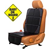 Car Seat Protector for Baby & Toddler FORTEM | 100% Waterproof Very Thick & Durable Quality Backseat Cover | Protection Against Damage to Leather & Cloth Seats | Bonus Baby On Board Sticker (1 Pack)